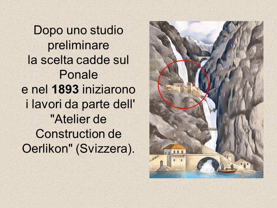 Dopo uno studio preliminare la scelta cadde sul Ponale e nel 1893 iniziarono i lavori da parte dell'