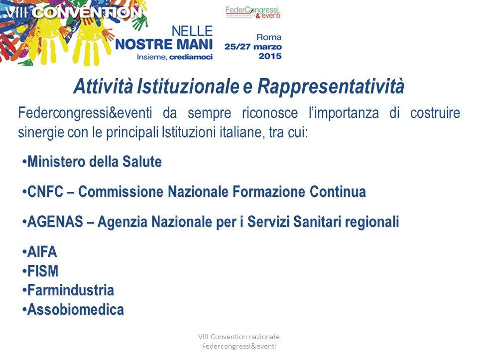 VIII Convention nazionale Federcongressi&eventi Provider ECM accreditamento nazionale n.1003 provider provvisori n.