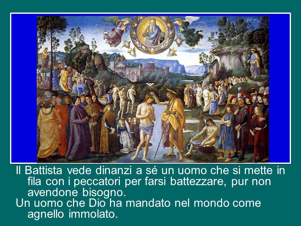 Nella testimonianza di Giovanni Battista, Gesù ha i tratti del Servo del Signore, che «si è caricato delle nostre sofferenze, si è addossato i nostri dolori» (Is 53,4), fino a morire sulla croce.