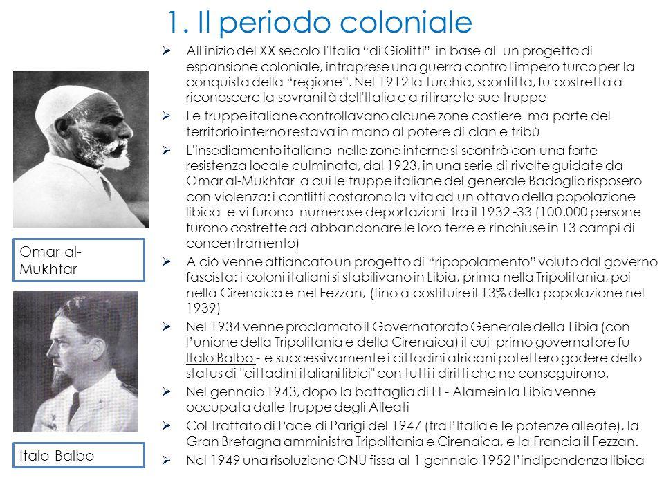 All inizio del XX secolo l Italia di Giolitti in base al un progetto di espansione coloniale, intraprese una guerra contro l impero turco per la conquista della regione .