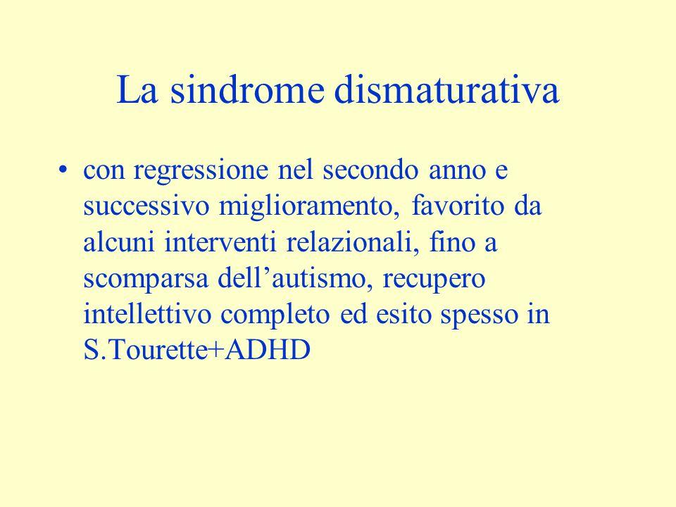 La sindrome dismaturativa con regressione nel secondo anno e successivo miglioramento, favorito da alcuni interventi relazionali, fino a scomparsa del