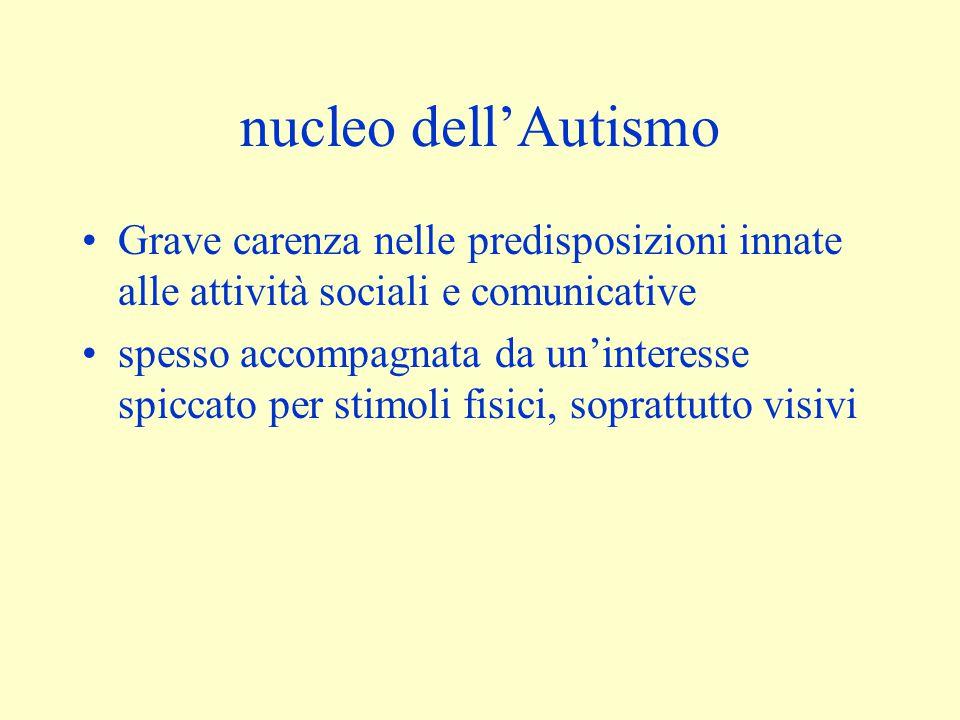 Autismo Infantile Si definisce anche con l'aiuto di scale come: ICD 10, DSM IV, ABC, CARS, ecc.
