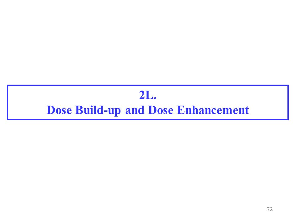 72 2L. Dose Build-up and Dose Enhancement