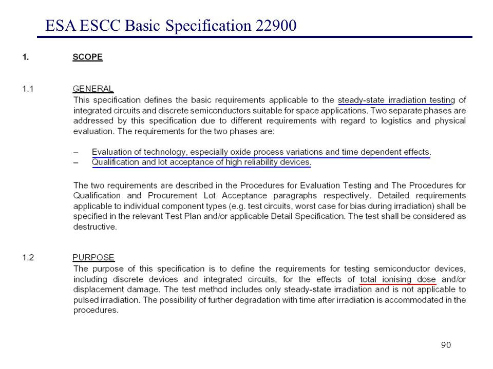 90 ESA ESCC Basic Specification 22900