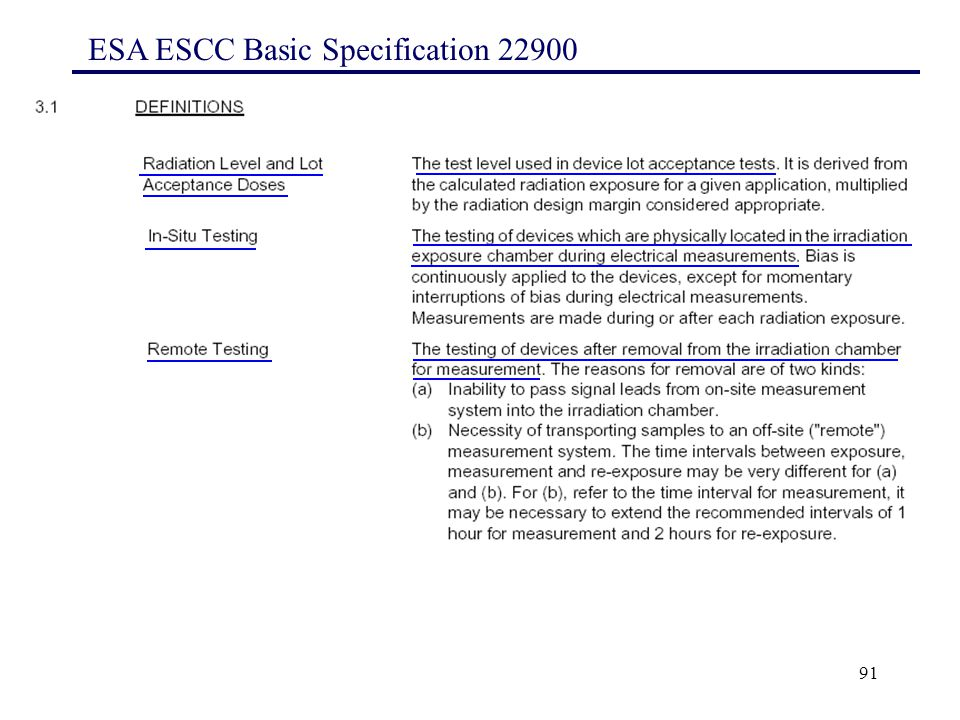 91 ESA ESCC Basic Specification 22900