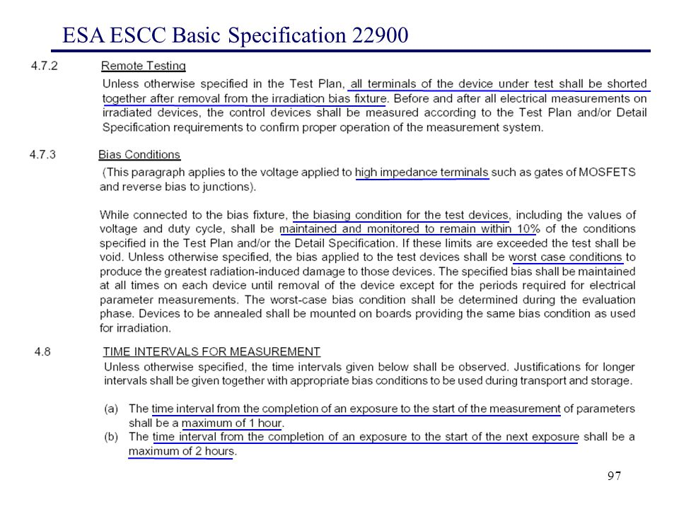 97 ESA ESCC Basic Specification 22900