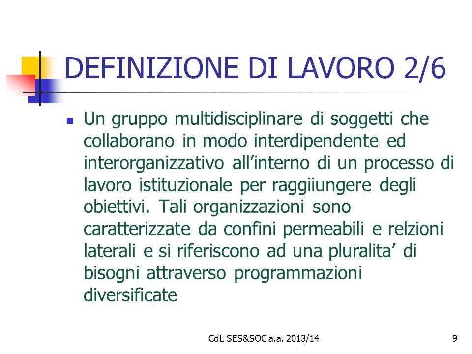 DEFINIZIONE DI LAVORO 2/6 Un gruppo multidisciplinare di soggetti che collaborano in modo interdipendente ed interorganizzativo all'interno di un proc