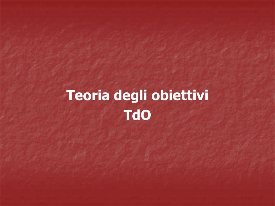 Teoria degli obiettivi TdO