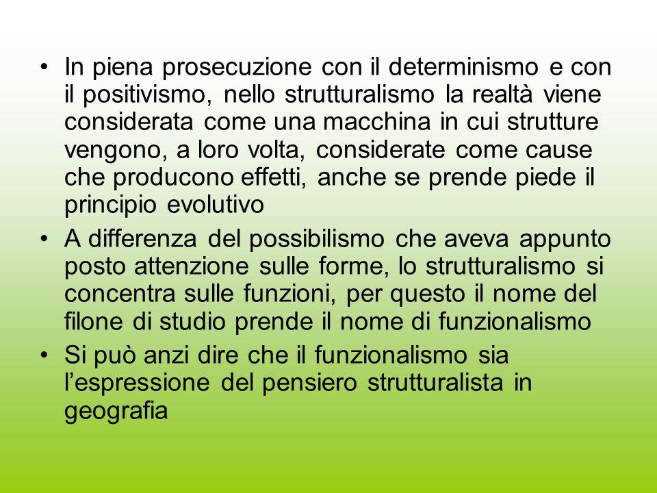 In piena prosecuzione con il determinismo e con il positivismo, nello strutturalismo la realtà viene considerata come una macchina in cui strutture ve