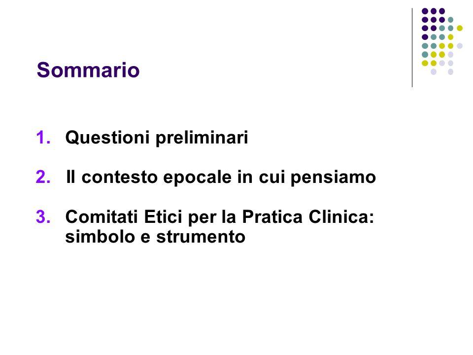 Sommario 1.Questioni preliminari 2.
