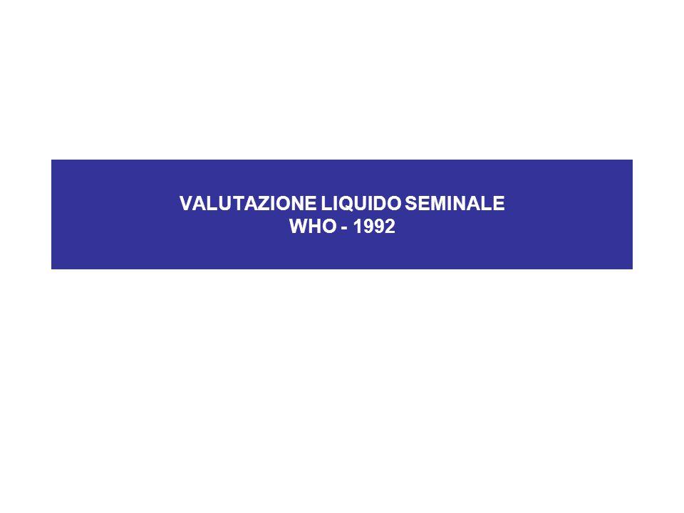 VALUTAZIONE LIQUIDO SEMINALE WHO - 1992