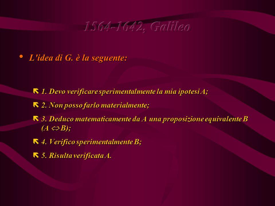 ëPer controllare sperimentalmente la (1) occorre verificare che  v   t, cioè che  v = k  t.