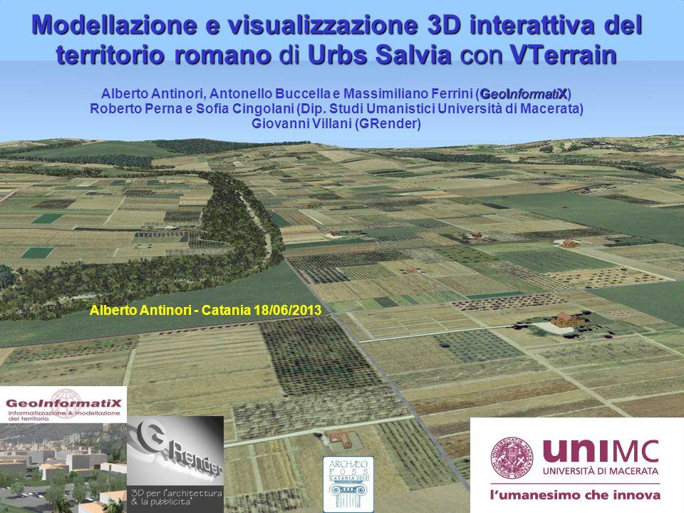GeoInformatiX GeoInformatiX di Antinori Alberto ArcheoFOSS 2013 Catania 18-19 Giugno 2013 Università di Macerata – Dip. Studi Umanistici Modellazione