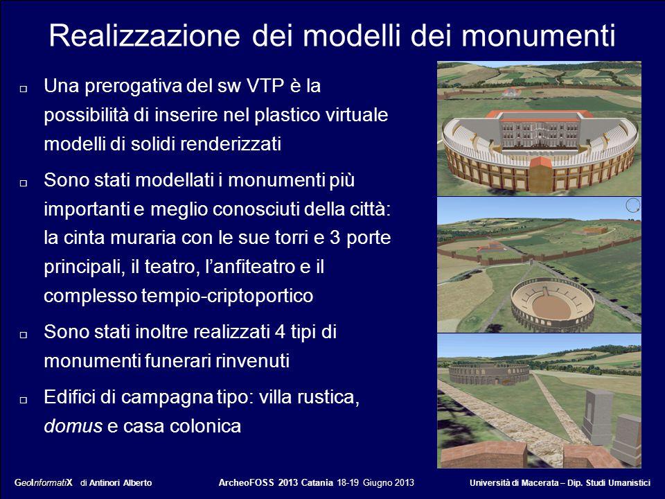 GeoInformatiX GeoInformatiX di Antinori Alberto ArcheoFOSS 2013 Catania 18-19 Giugno 2013 Università di Macerata – Dip. Studi Umanistici Realizzazione