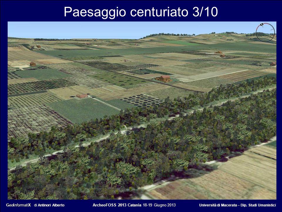 GeoInformatiX GeoInformatiX di Antinori Alberto ArcheoFOSS 2013 Catania 18-19 Giugno 2013 Università di Macerata – Dip. Studi Umanistici Paesaggio cen