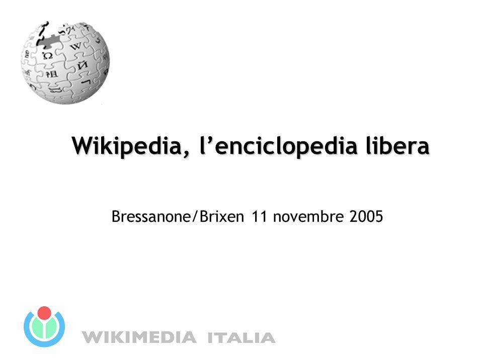 1999 Richard Stallman: Il world wide web ha le potenzialità per svilupparsi in un'enciclopedia universale che copra tutti i campi della conoscenza Storia 2001 Jimmy Wales e Larry Sanger creano Wikipedia Il progetto in lingua italiana prende avvio nella primavera del 2001