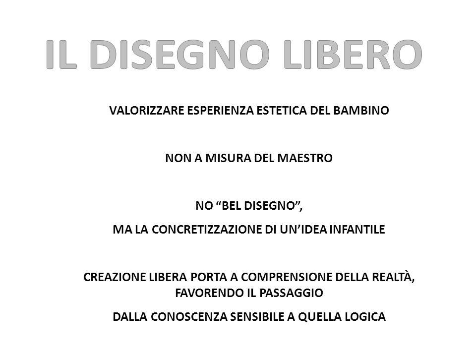 """VALORIZZARE ESPERIENZA ESTETICA DEL BAMBINO NON A MISURA DEL MAESTRO NO """"BEL DISEGNO"""", MA LA CONCRETIZZAZIONE DI UN'IDEA INFANTILE CREAZIONE LIBERA PO"""