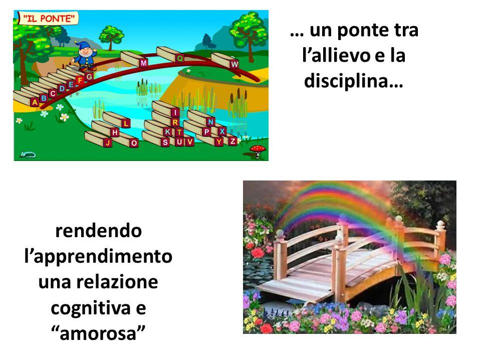 """… un ponte tra l'allievo e la disciplina… rendendo l'apprendimento una relazione cognitiva e """"amorosa"""""""