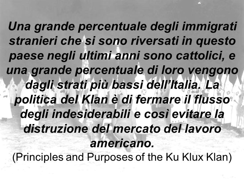 Una grande percentuale degli immigrati stranieri che si sono riversati in questo paese negli ultimi anni sono cattolici, e una grande percentuale di loro vengono dagli strati più bassi dell'Italia.