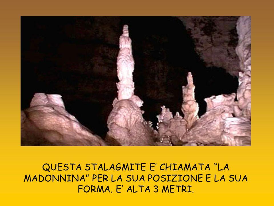 Le stalattite sono di diversi colori: a seconda dei minerali che si mescolano al carbonato di calcio: grige, bianche, color miele