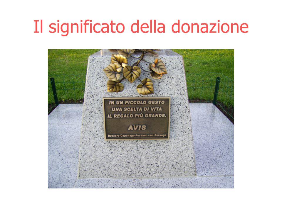 Il significato della donazione
