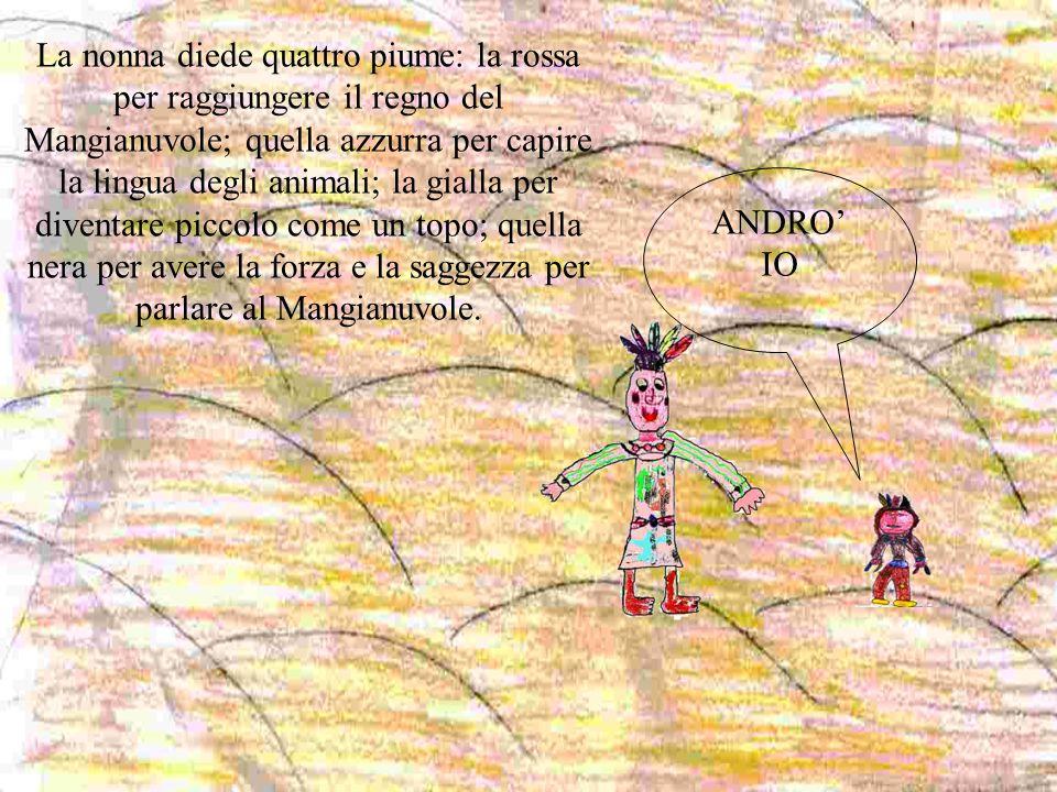 ANDRO' IO La nonna diede quattro piume: la rossa per raggiungere il regno del Mangianuvole; quella azzurra per capire la lingua degli animali; la gial