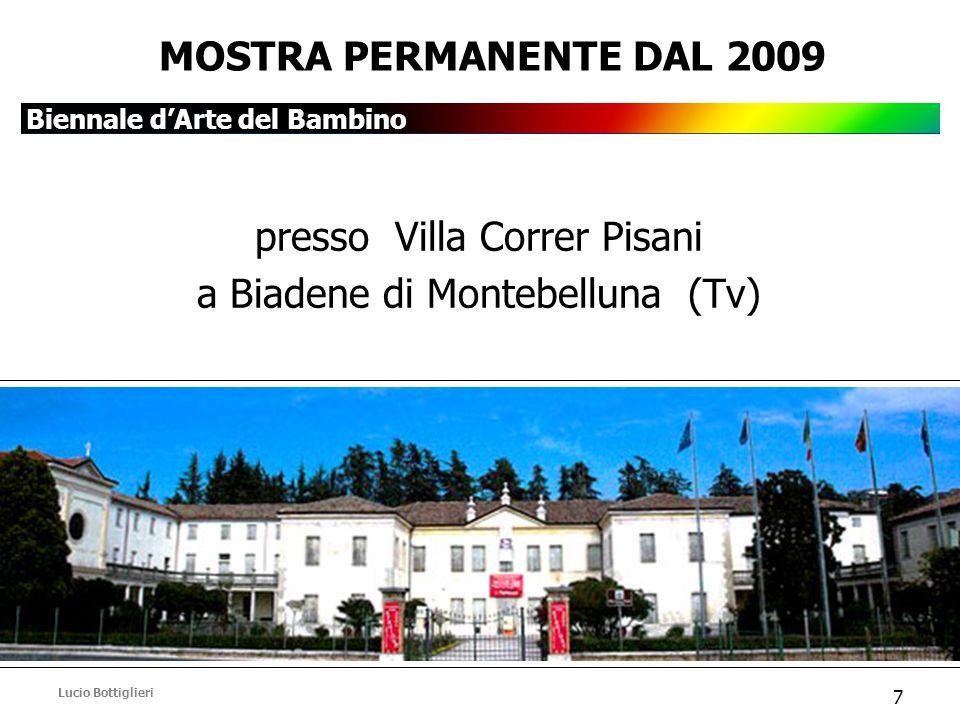 Biennale d'Arte del Bambino Lucio Bottiglieri 7 MOSTRA PERMANENTE DAL 2009 presso Villa Correr Pisani a Biadene di Montebelluna (Tv)