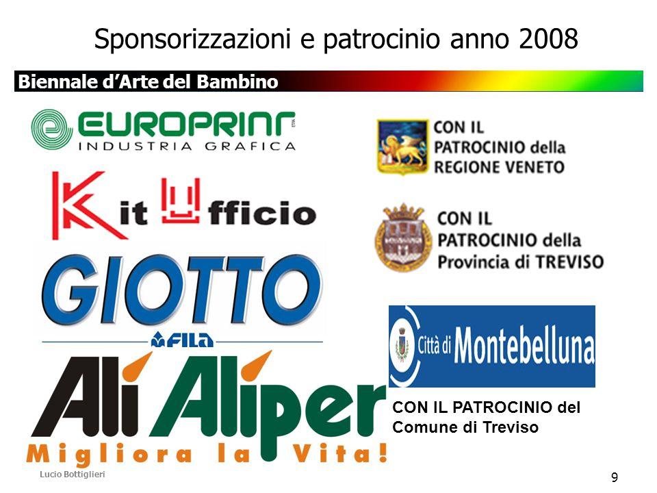 Biennale d'Arte del Bambino Lucio Bottiglieri 9 Sponsorizzazioni e patrocinio anno 2008 CON IL PATROCINIO del Comune di Treviso