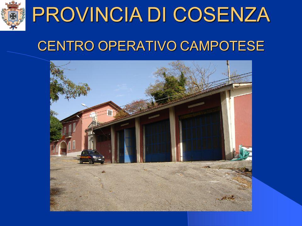 CENTRO OPERATIVO CAMPOTESE PROVINCIA DI COSENZA