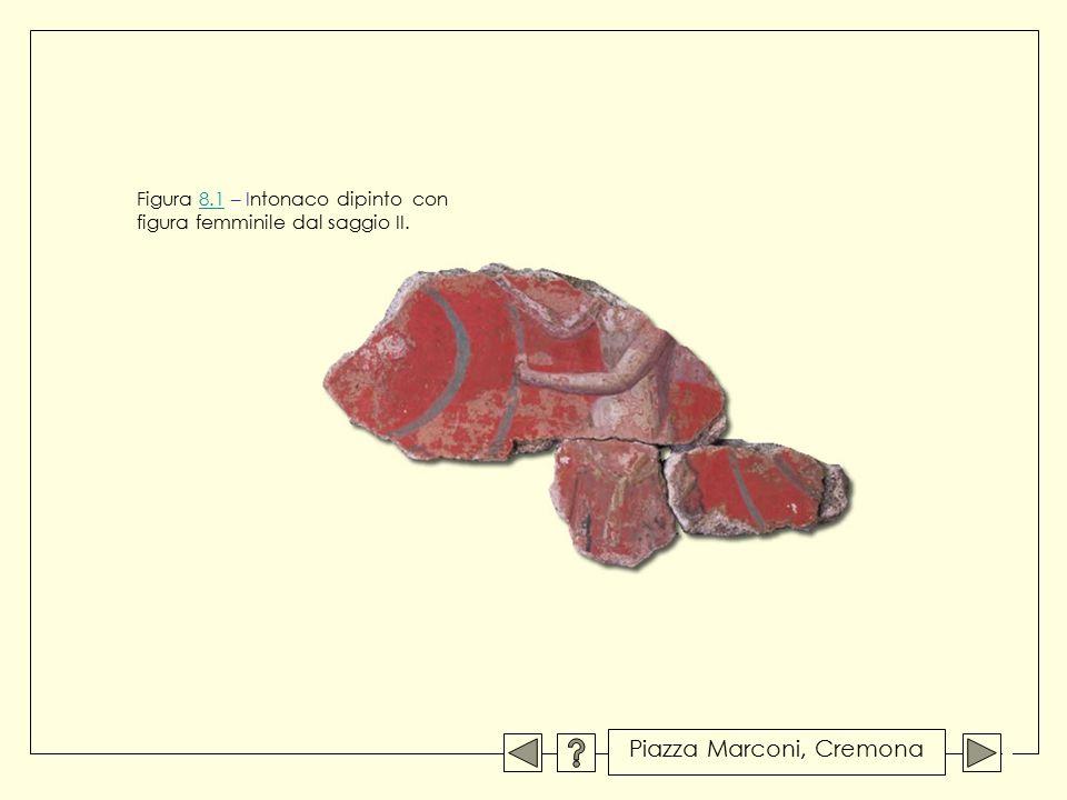 Figura 8.1 – Intonaco dipinto con figura femminile dal saggio II.8.1 Piazza Marconi, Cremona