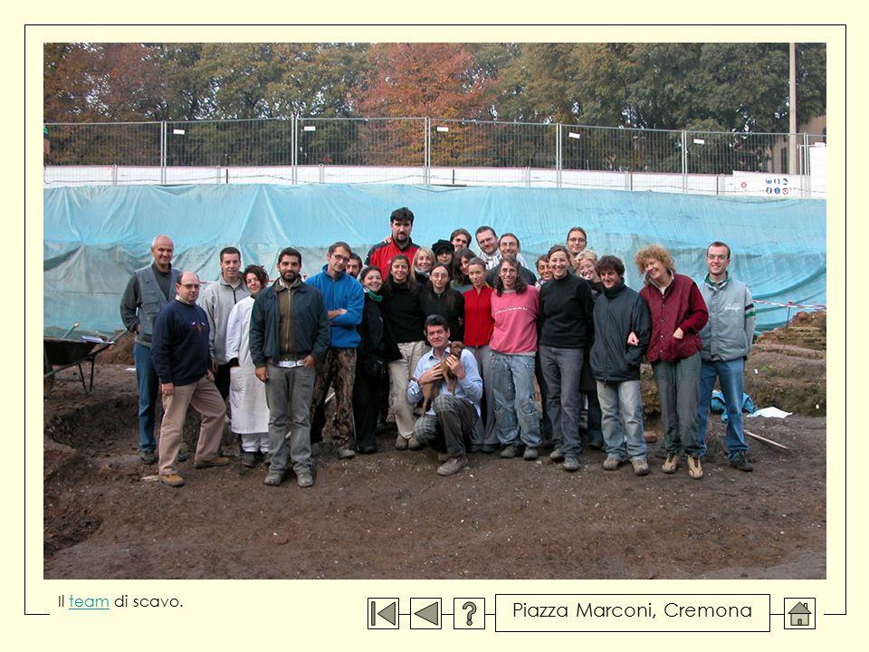 Il team di scavo.team Piazza Marconi, Cremona