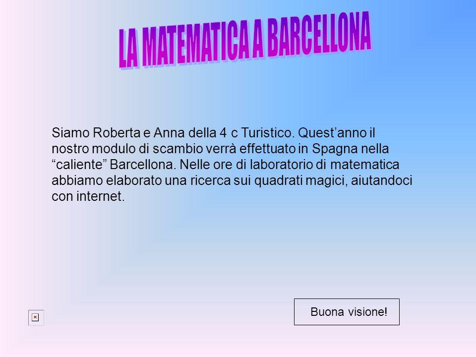 """Siamo Roberta e Anna della 4 c Turistico. Quest'anno il nostro modulo di scambio verrà effettuato in Spagna nella """"caliente"""" Barcellona. Nelle ore di"""