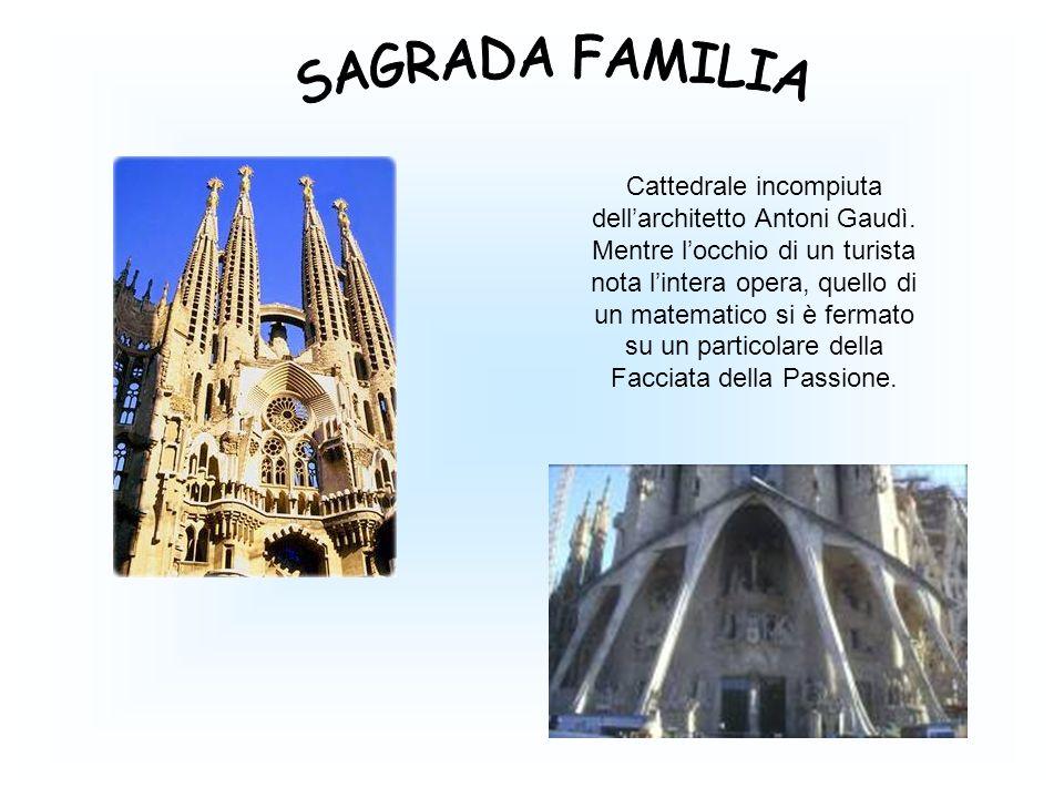 Cattedrale incompiuta dell'architetto Antoni Gaudì. Mentre l'occhio di un turista nota l'intera opera, quello di un matematico si è fermato su un part