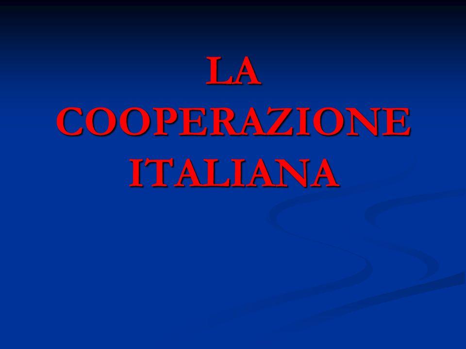 LA COOPERAZIONE ITALIANA