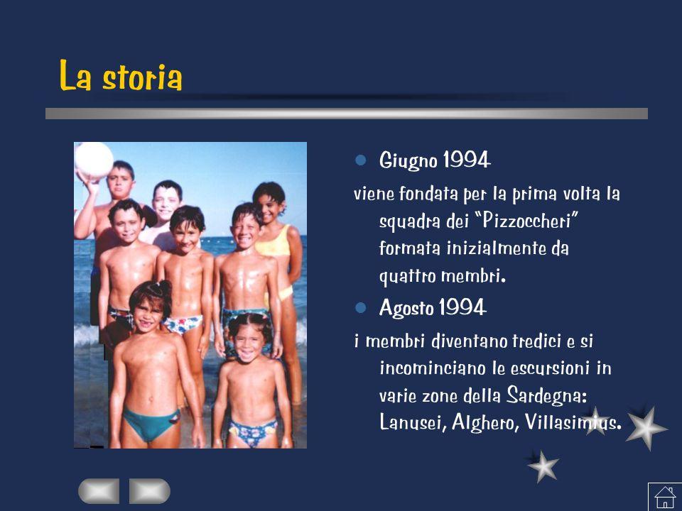 """La storia Giugno 1994 viene fondata per la prima volta la squadra dei """"Pizzoccheri"""" formata inizialmente da quattro membri. Agosto 1994 i membri diven"""
