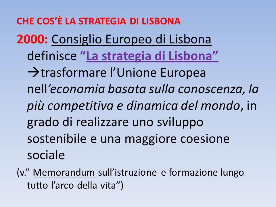 3 Obiettivi strategici (Stoccolma 2001 – Barcellona 2002) 1.