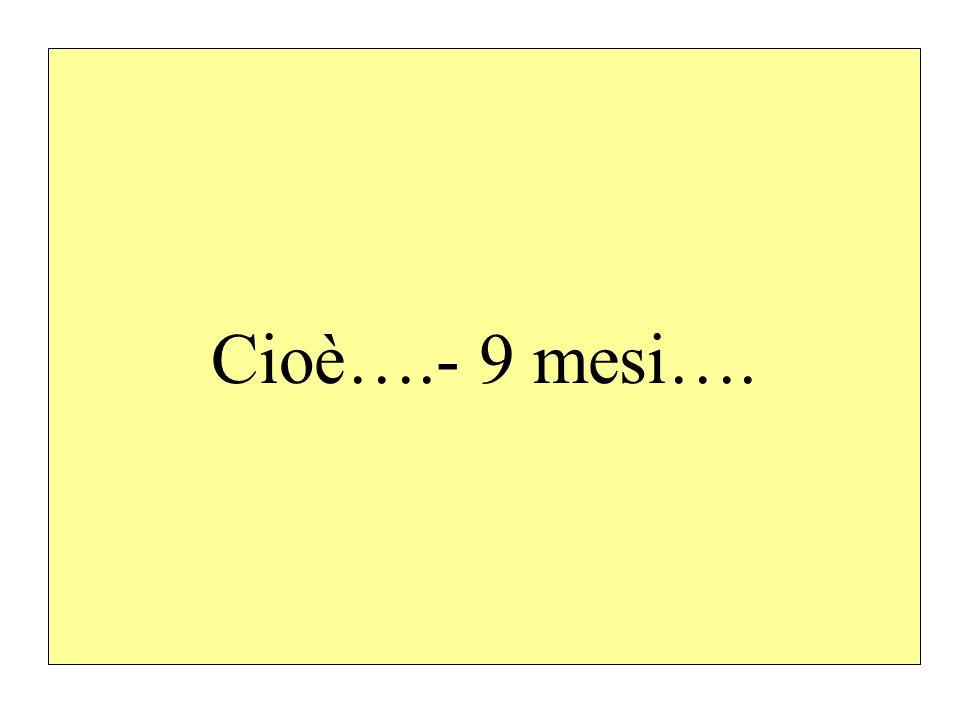 Cioè….- 9 mesi….