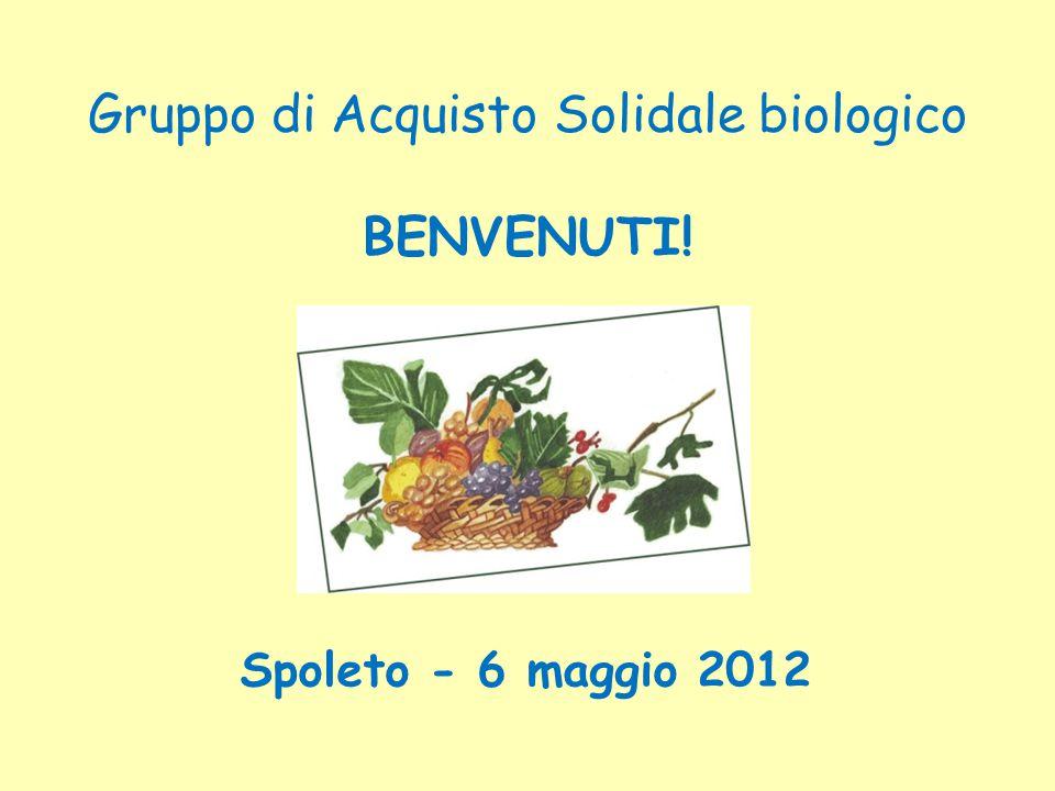 Gruppo di Acquisto Solidale biologico BENVENUTI! Spoleto - 6 maggio 2012