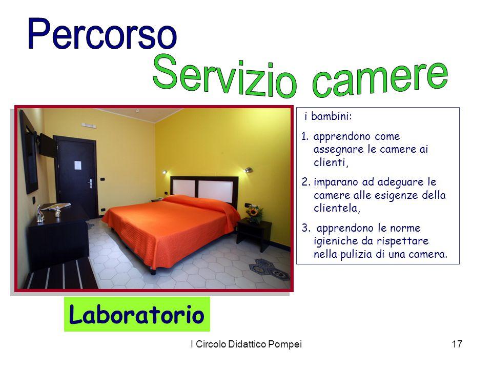 I Circolo Didattico Pompei17 i bambini: 1.apprendono come assegnare le camere ai clienti, 2.imparano ad adeguare le camere alle esigenze della cliente
