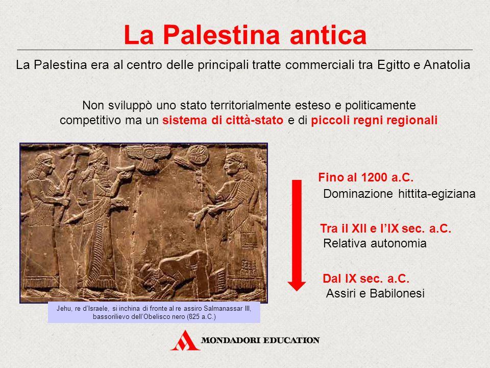 La Palestina antica Non sviluppò uno stato territorialmente esteso e politicamente competitivo ma un sistema di città-stato e di piccoli regni regiona