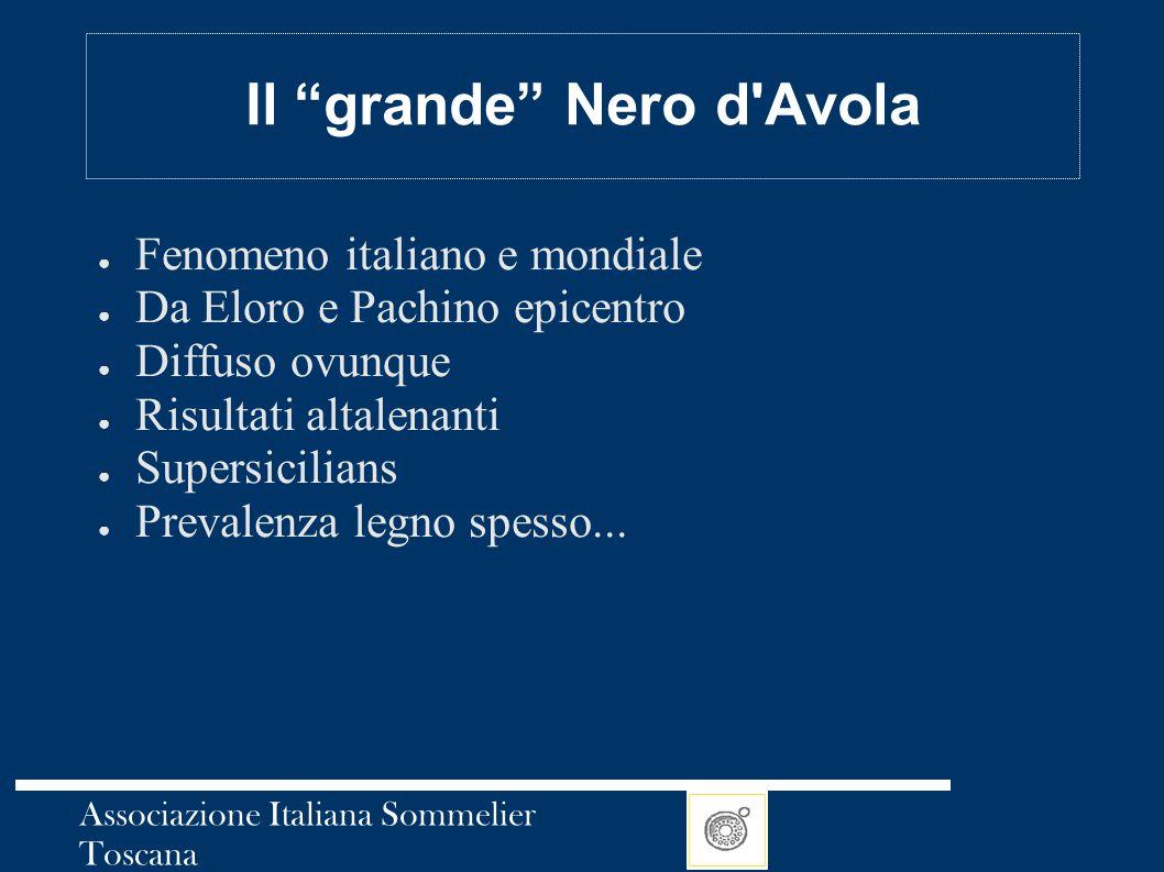 """Associazione Italiana Sommelier Toscana Il """"grande"""" Nero d'Avola ● Fenomeno italiano e mondiale ● Da Eloro e Pachino epicentro ● Diffuso ovunque ● Ris"""