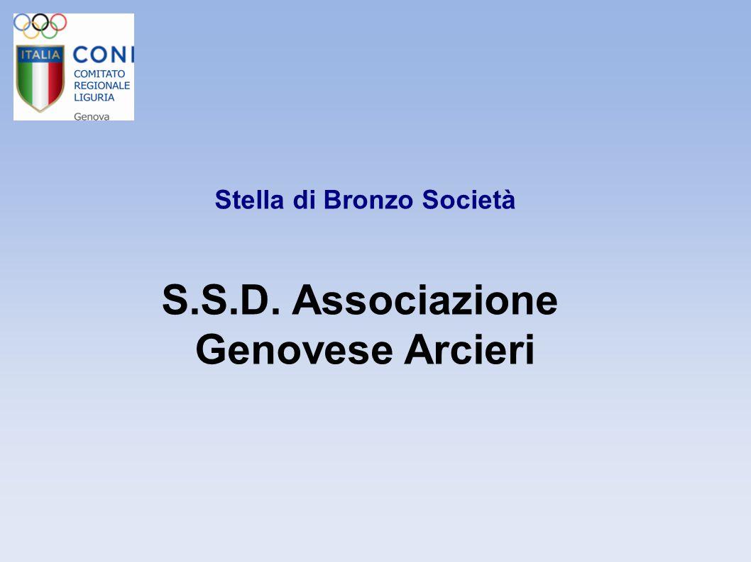Stella di Bronzo Società S.S.D. Associazione Genovese Arcieri