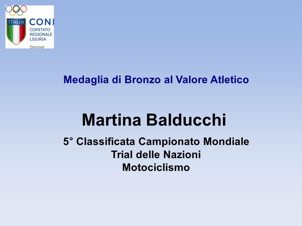 Medaglia di Bronzo al Valore Atletico Benedetta Bellio 5° Campionato Mondiale - quattro senza Campionessa Italiana – Gozzo nazionale Canottaggio e Canottaggio a sedile fisso