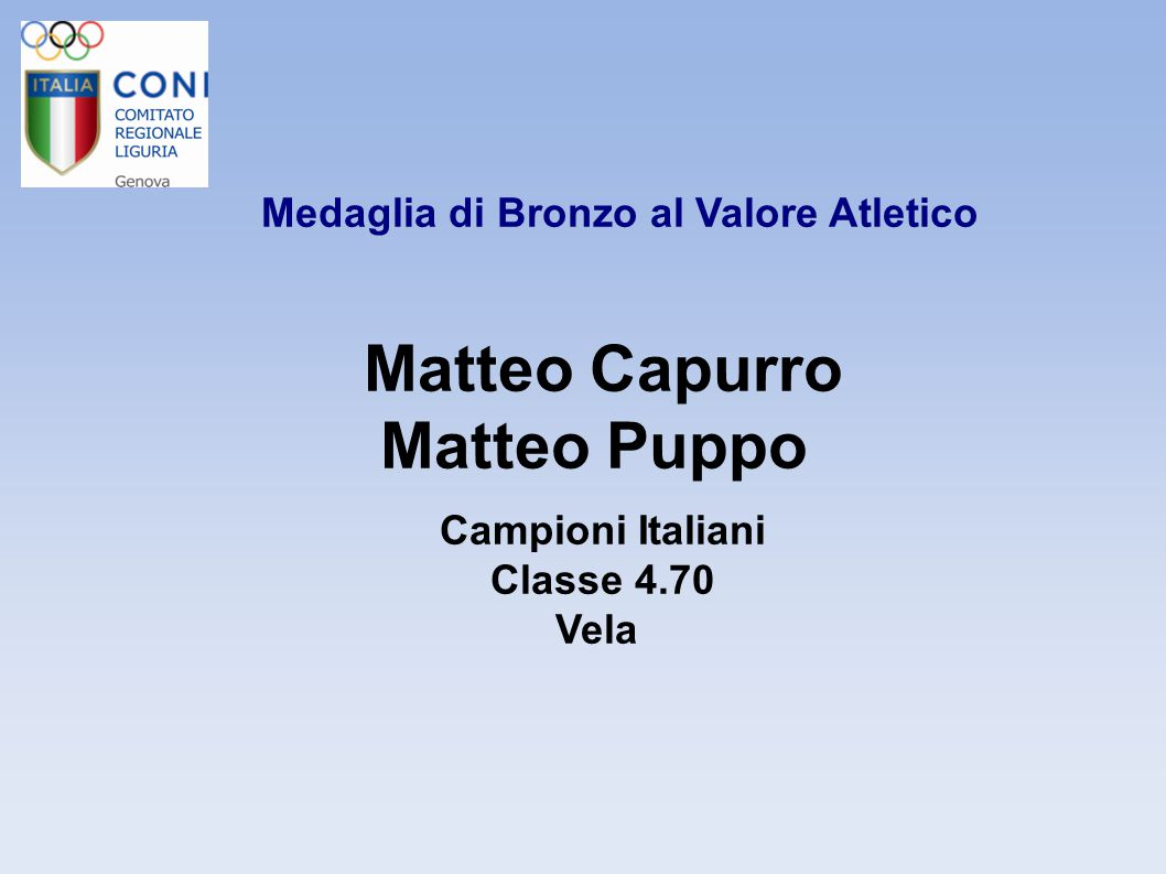 Medaglia di Bronzo al Valore Atletico Andrea Castagneto 4°-5°-6° Classificato Campionato Mondiale Nuoto – Staffette: 4x50 stile libero – 4x50 misti – mt.100 rana Comitato Italiano Paralimpico