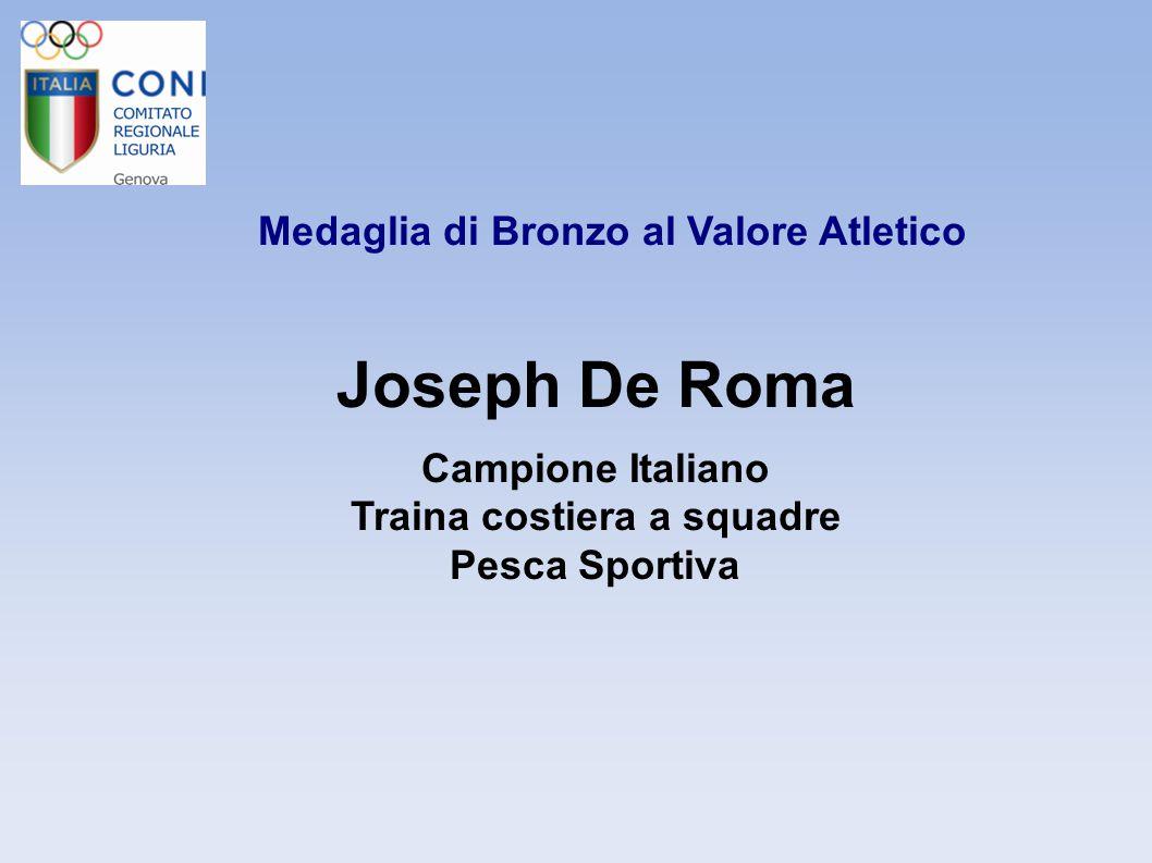 Medaglia di Bronzo al Valore Atletico Tatiana Di Poi Campionessa Italiana Immersione in Apnea dinamica senza attrezzi Pesca Sportiva ed Attività Subacquee