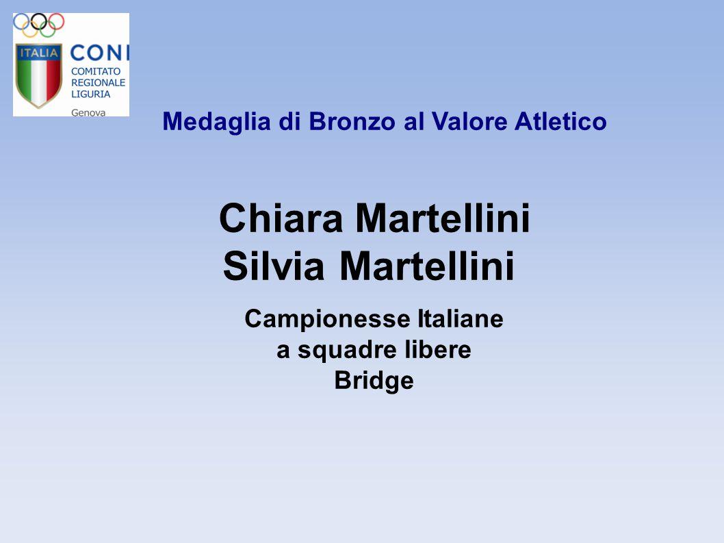 Medaglia di Bronzo al Valore Atletico Martina Mongiardino Campionessa Italiana Immersione in Apnea Speed con attrezzi Pesca Sportiva e Attività Subacquee