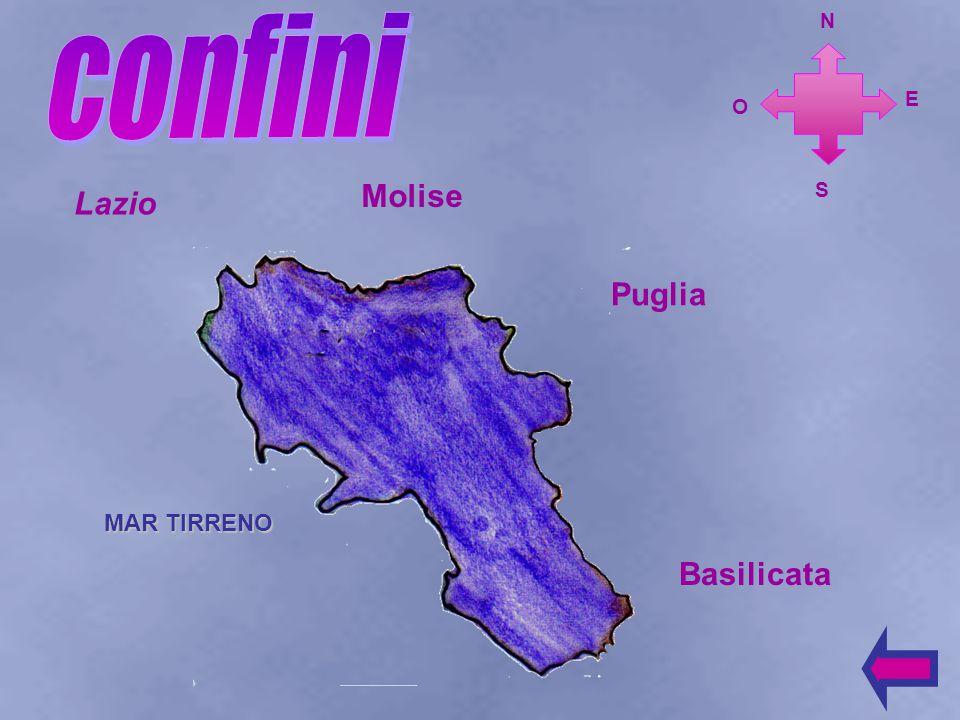 La Campania si trova nell'Italia meridionale. E N O S
