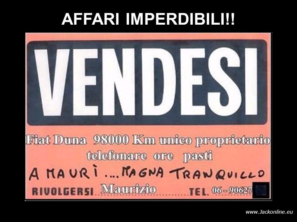 www.Jackonline.eu AFFARI IMPERDIBILI!!
