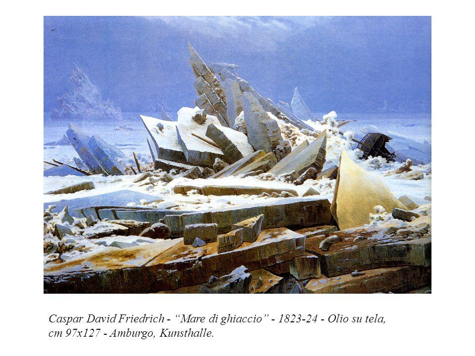 "Caspar David Friedrich - ""Mare di ghiaccio"" - 1823-24 - Olio su tela, cm 97x127 - Amburgo, Kunsthalle."