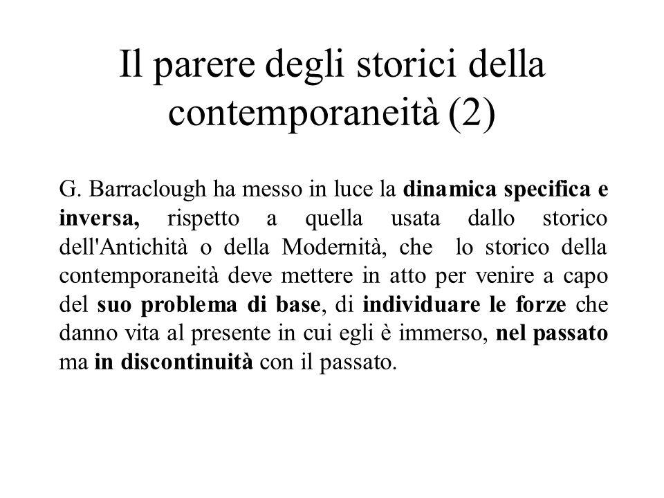 Il parere degli storici della contemporaneità (2) G.